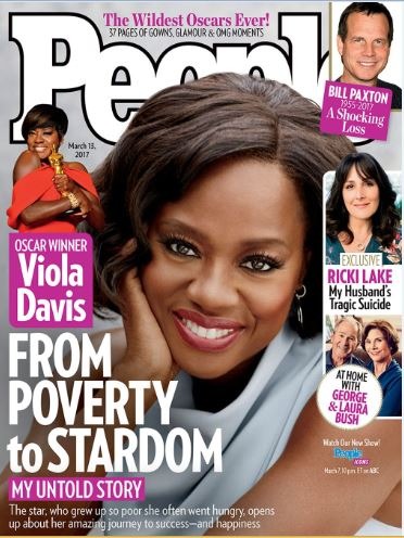 VIOLA DAVIS BARES IT ALL , TALKS ABOUT GROWING UP IN POVERTY ON THE NEW ISSUE OF PEOPLE MAGAZINE'S