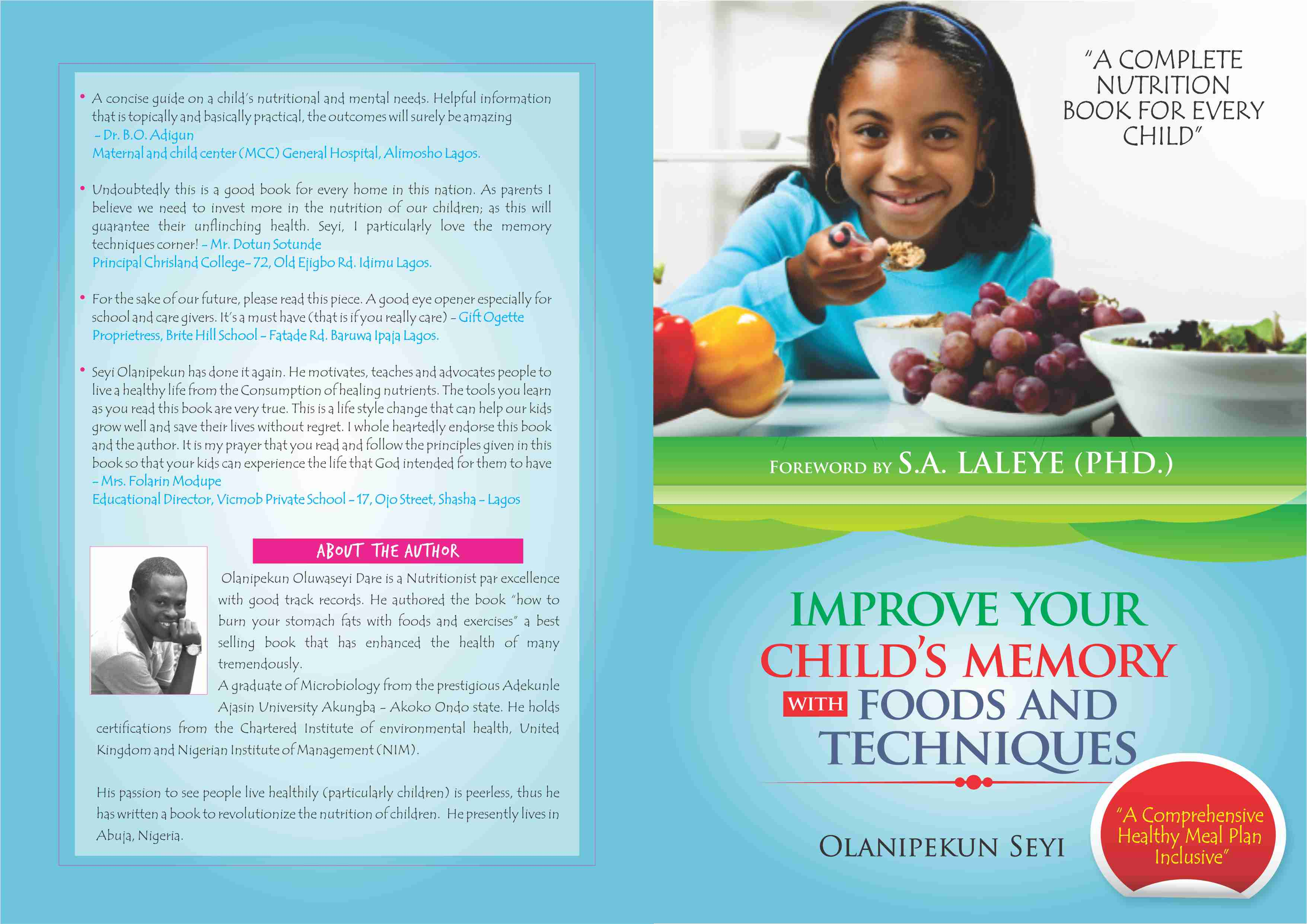 """SUPPORT GOOD NUTRITION AND GET A COPY OF """"CHILD NUTRITION"""" TODAY"""
