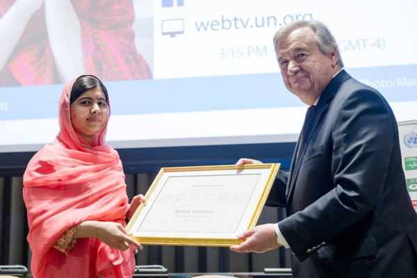 NOBEL LAUREATE MALALA YOUSAFZAI BECOMES YOUNGEST-EVER UN MESSENGER OF PEACE AT 19