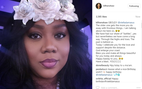 """WE HAVE HAD OUR SHARE OF """"BATTLES""""…KATE HENSHAW WRITES HEARTFELT MESSAGE TO STELLA DAMASUS ON HER BIRTHDAY"""
