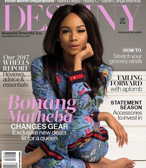 SOUTH AFRICAN MEDIA QUEEN BONANG MATHEBA COVERS DESTINY MAGAZINES JUNEhellip