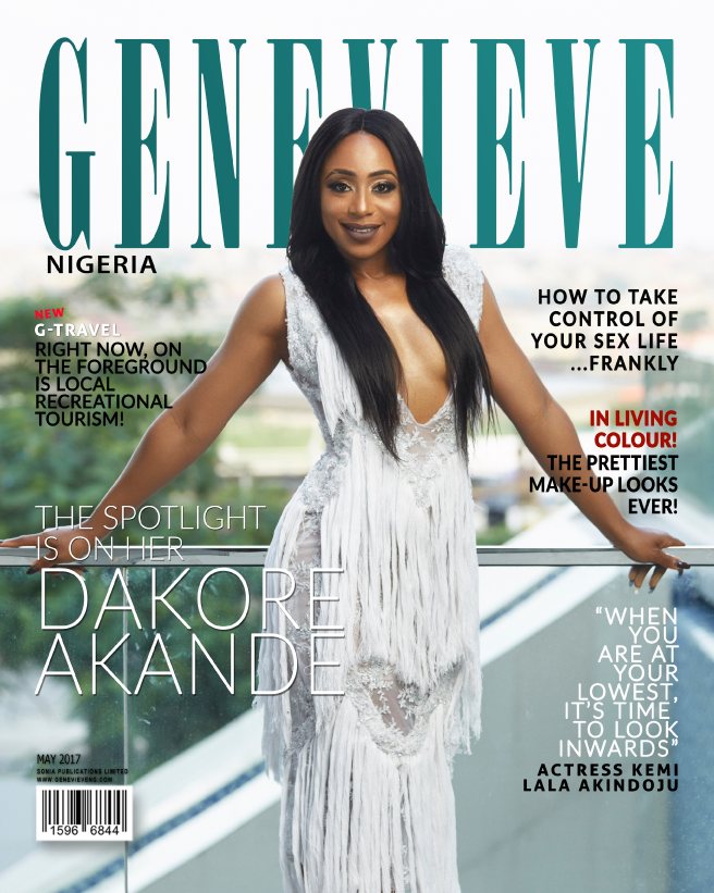 DAKORE AKANDE COVERS GENEVIEVE MAGAZINE'S MAY 2017 ISSUE
