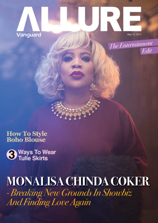 NOLLYWOOD ACTRESS MONALISA CHINDA COKER IS THE COVER STAR FOR VANGUARD ALLURE'S LATEST ISSUE
