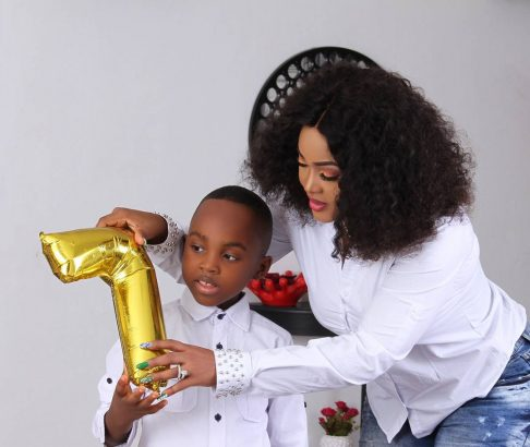MERCY AIGBE RELEASES BEAUTIFUL PHOTOS TO MARK SON'S BIRTHDAY