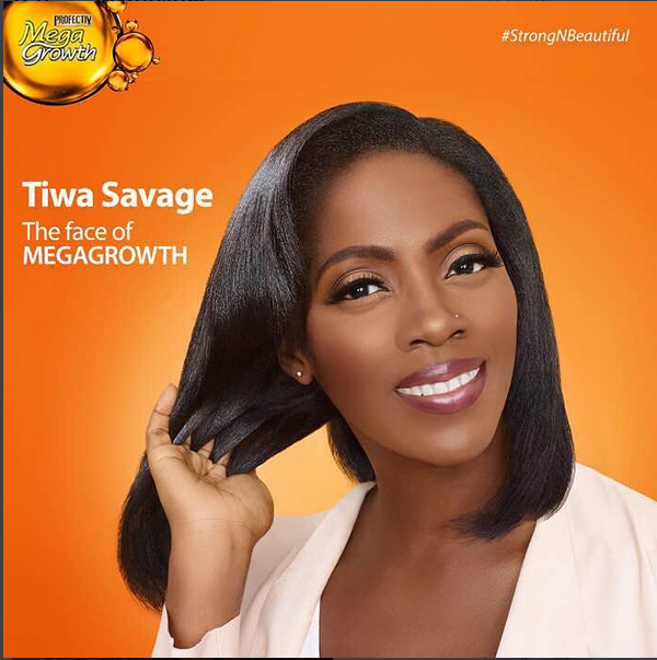 TIWA SAVAGE LANDS NEW ENDORSEMENT DEAL WITH PROFECTIVE MEGAGROWTH HAIR PRODUCT