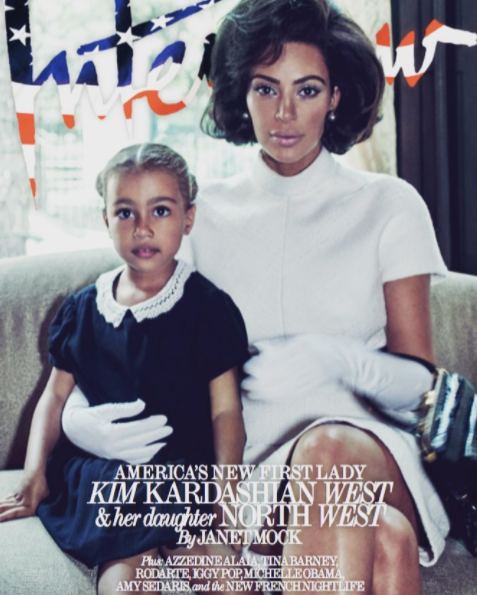 KIM KARDASHIAN CHANNELS FIRST LADY JACKIE KENNEDY, WITH DAUGHTER IN NEW COVER SHOOT