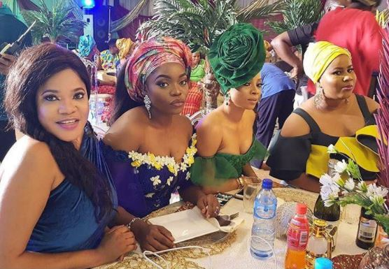 TOKE MAKINWA, BISOLA AIYEOLA, TOYIN ABRAHAM, AND CHIGUL GLAMS UP IN NEW MOVIE