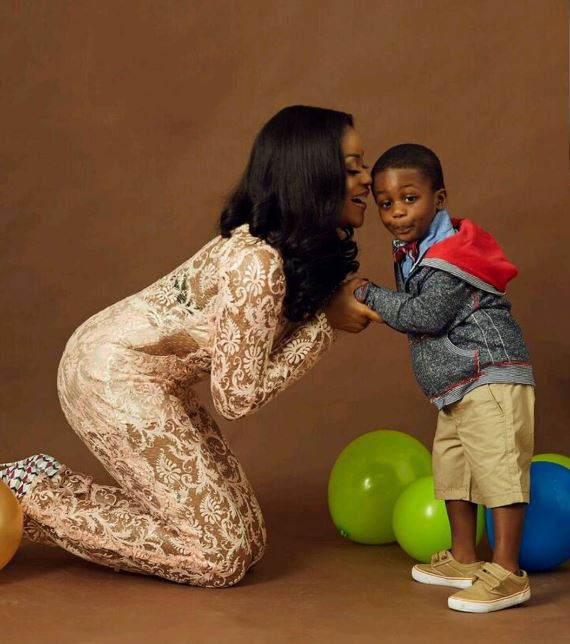 DAMILOLA ADEGBITE RELIVES BIRTH EXPERIENCE AS HER SON TURNS A YEAR OLDER