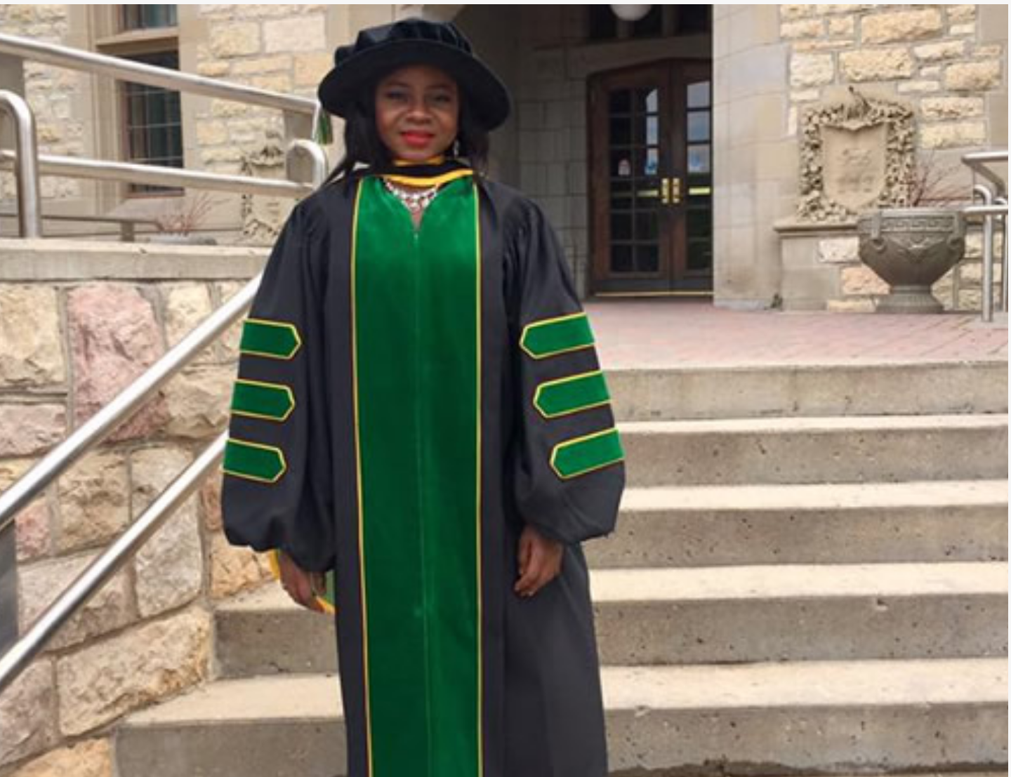 MEET ADEOLA OLUBAMIJI, FORMER PEPPER SELLER WHO IS THE FIRST BLACK WOMAN TO EARN A PHD IN BIOMEDICAL ENGINEERING FROM A CANADIAN UNIVERSITY