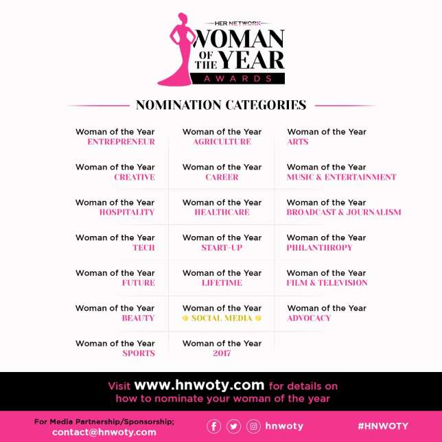 HER NETWORK WOMAN AWARDS CALLS FOR NOMINATIONS