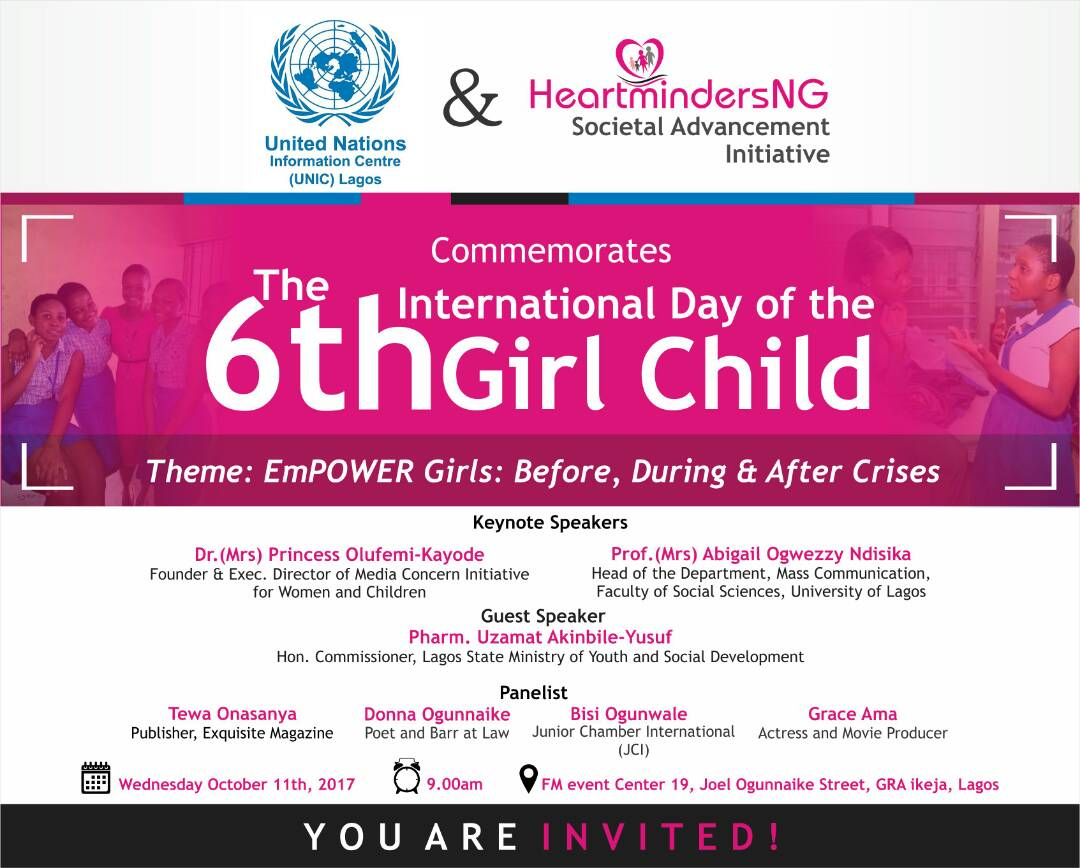 HEARTMINDERS DAY OF THE GIRL 2017