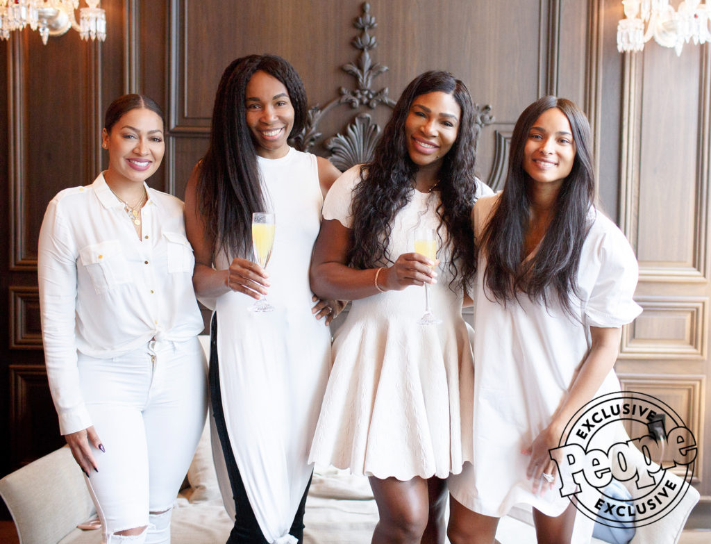SERENA WILLIAMS HANGS OUT WITH HER GIRLS AS SHE SETS TO TIE THE KNOT