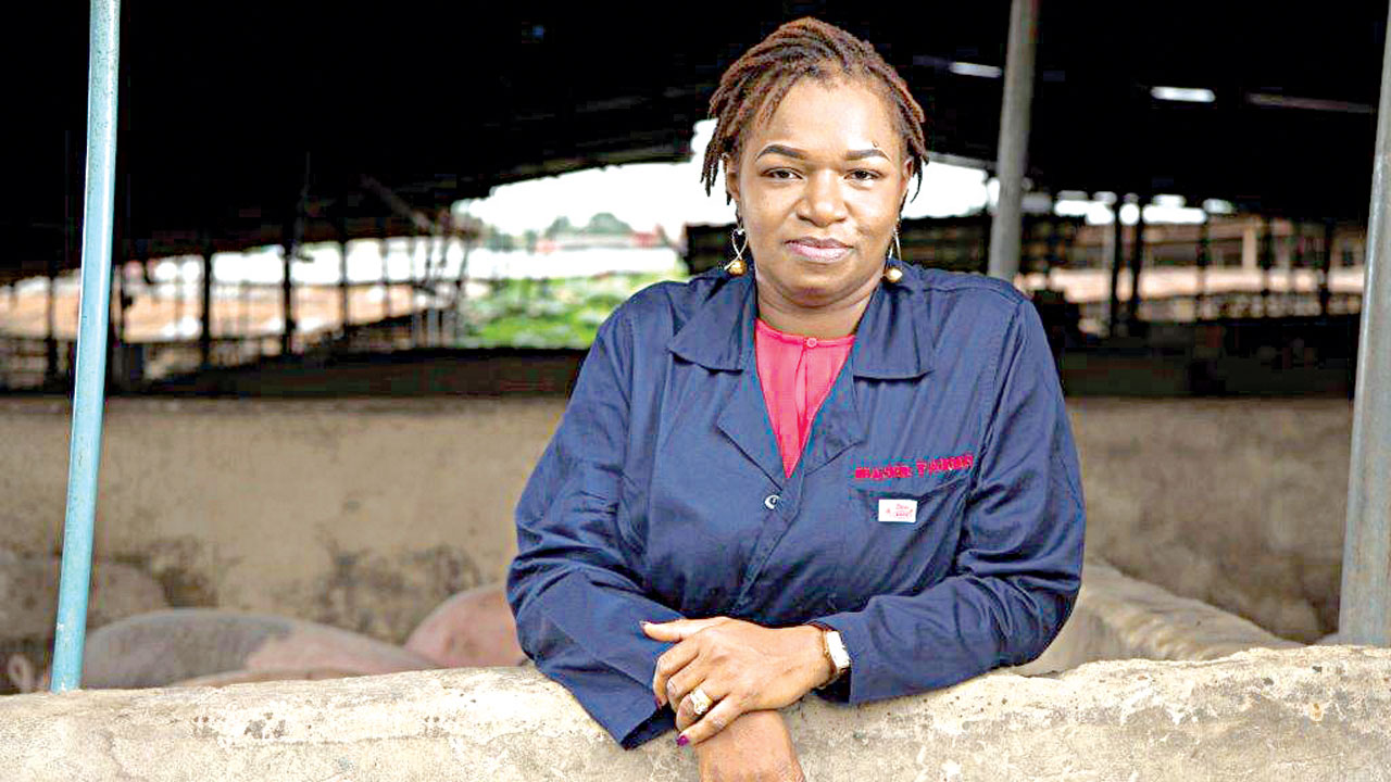 Meet Udeme Mfon-okon, the woman who quit banking for pig farming