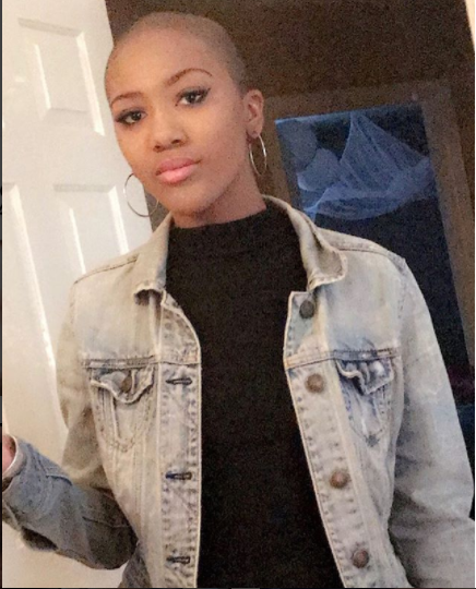 16 YEAR OLD BLACK AMERICAN GIRL SHAVES OFF HER HAIR TO PROTEST AGAINST BODY SHAMING