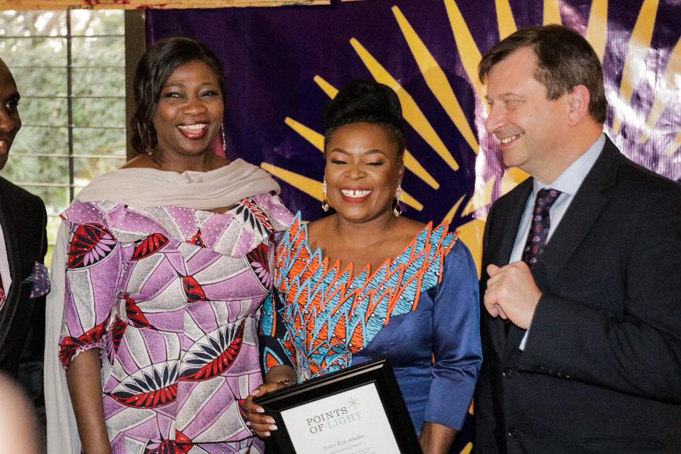 FOUNDER OF MIRABEL CENTRE, ITORO EZE-ANABA, HONORED BY THE QUEEN OF ENGLAND, HER MAJESTY QUEEN ELIZABETH II