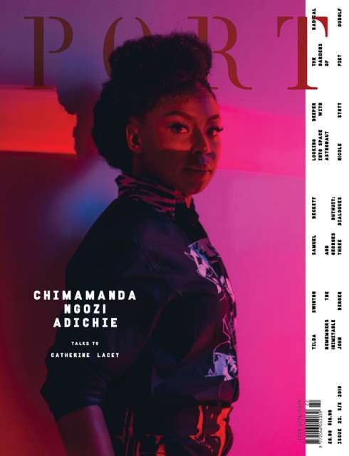 NIGERIAN AUTHOR, CHIMAMANDA ADICHIE BECOMES THE FIRST WOMAN TO BE FEATURED ON THE COVER OF PORT MAGAZINE