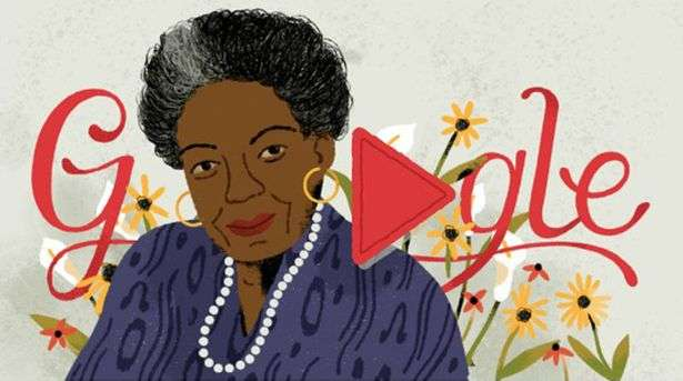 GOOGLE HONOURS AMERICAN WRITER, POET AND CIVIL RIGHTS ACTIVIST, MAYA ANGELOU ON HER 90TH POSTHUMOUS BIRTHDAY