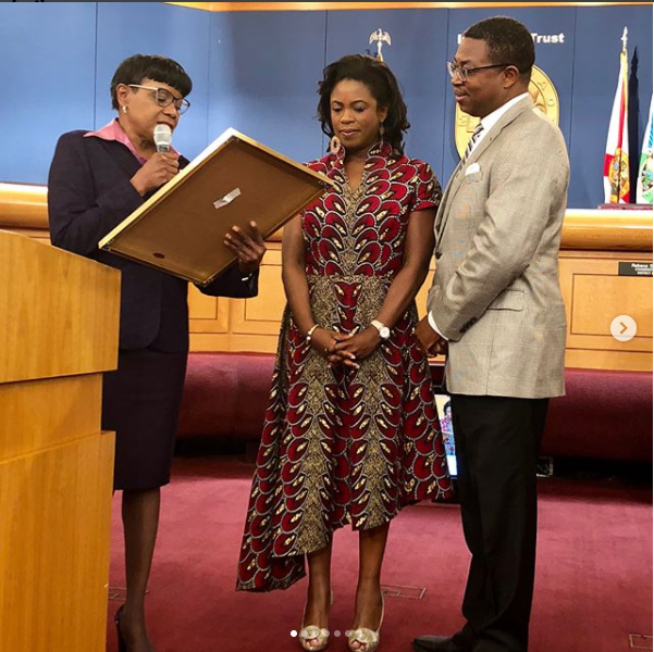 FLORIDA COUNTY DEDICATES A DAY TO HONOR NIGERIAN-AMERICAN ACTRESS SOPE ALUKO