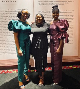 Lupita Nyong'o at the private dinner in Lagos, hosted by Chimamanda Adichie
